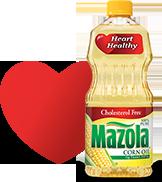 Heart and Mazola Corn Oil bottle